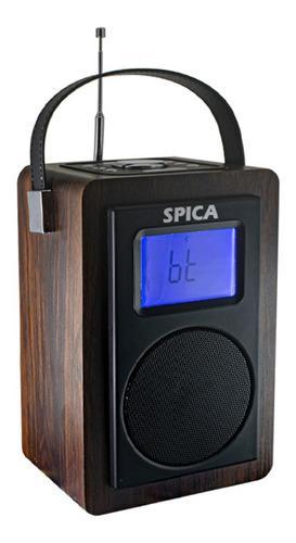 Radio Vintage Parlante Bluetooth Portatil Spica Sp130 Am/fm