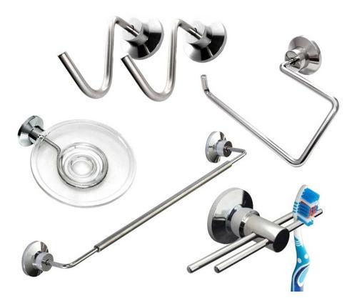 Set accesorios baño acero inoxidable