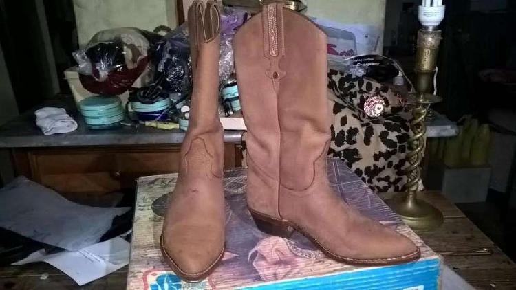 Botas texana jr boots nobuk sellada forrada n°35- 3 usos
