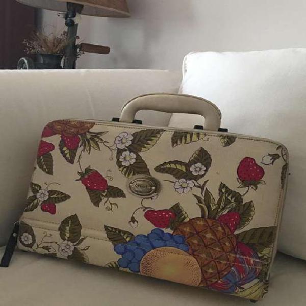 Cartera maletín neceser gioia en ecocuero rígido de mano