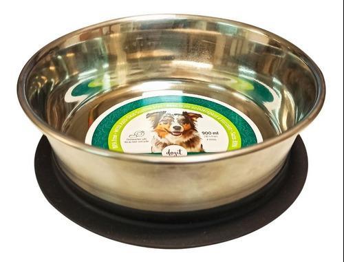 Comedero bebedero acero inoxidable perros dogit ventosa 17cm