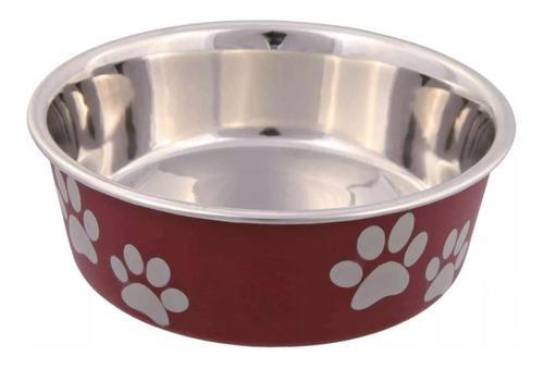 Comedero bebedero perros acero plastico 0,75l trixie 40% off