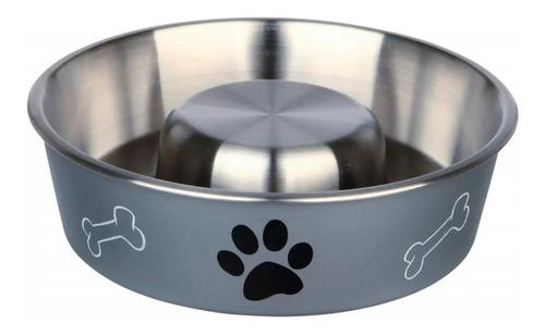 Comedero come lento acero trixie perros cachorros 40% off!!