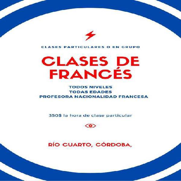 Francesa de lengua nativa da clases de francés