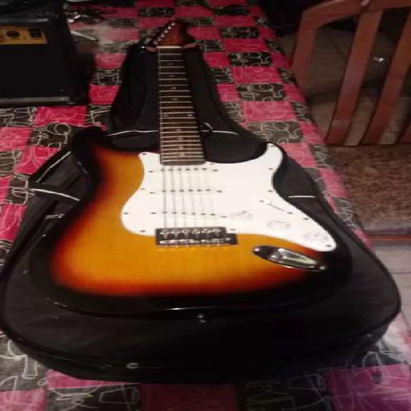 Guitarra kansas,amplificador y funda
