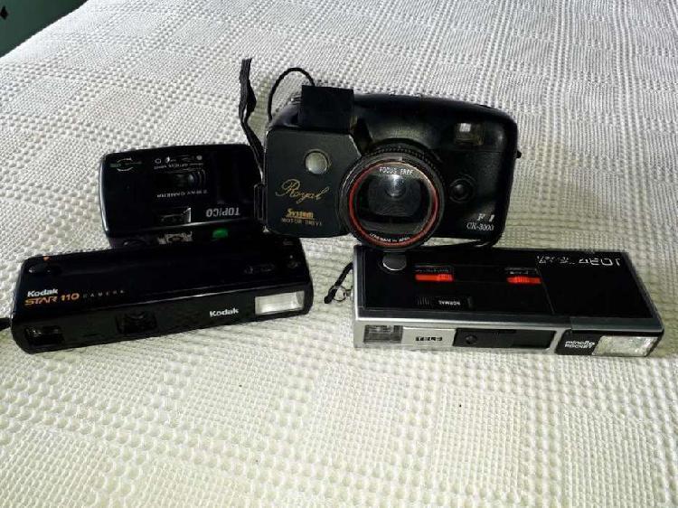 Lote 4 cámaras fotográficas antiguas