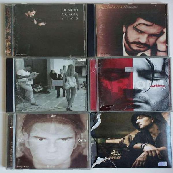 Lote 6 cds de ricardo arjona originales con detalles