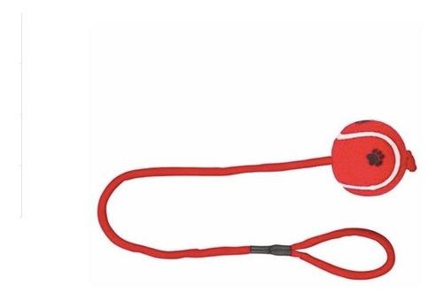 Pelota goma tenis con cuerda trixie 50 cm. polypterama pets
