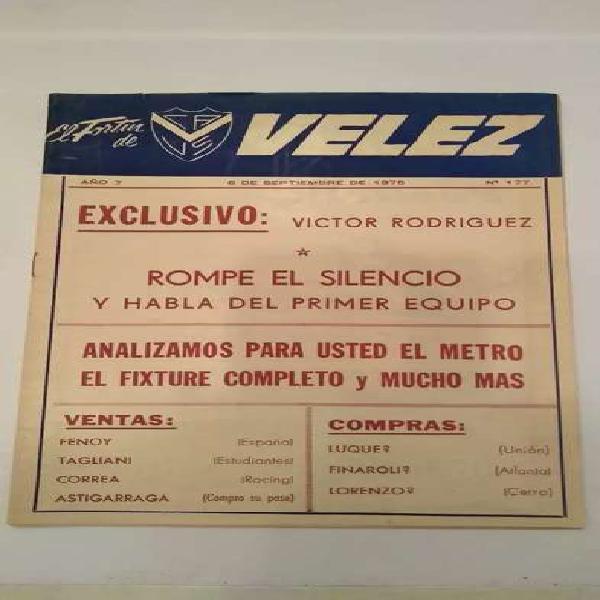 Vélez sarsfield revista el fortin 1975