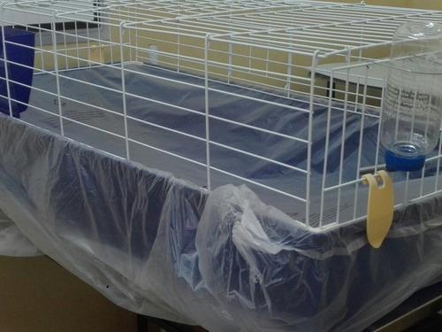 Jaula grande para conejos cobayos 120x60x44cm