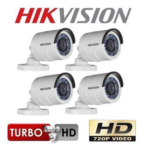 Kit dvr y 4 cámaras hikvision de vigilancia circuito
