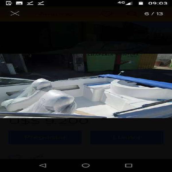 Tracker quicksilver 5.35 con mercury 40 4 tiempos