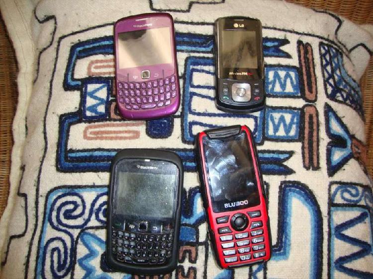 4 celulares funcionando a revisar