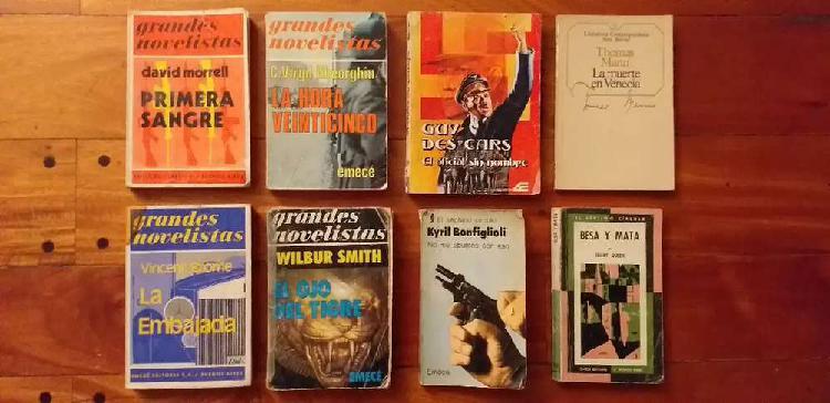 8 libros novelas por 300 pesos