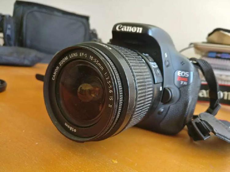 Canon rebel t3i + lente 18.55 + accesorios