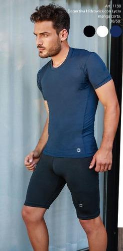 Camiseta termica deportiva de hombre manga corta. 38 al 50