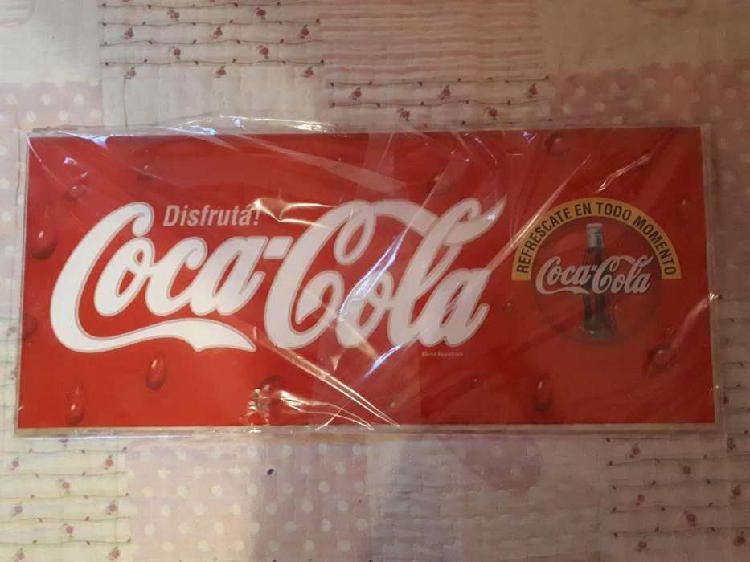 Cartel de cocacola original años 90s en acrílico ideal