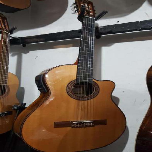 Guitarra de concierto antigua casa nuñez 1/2 caja c/micro