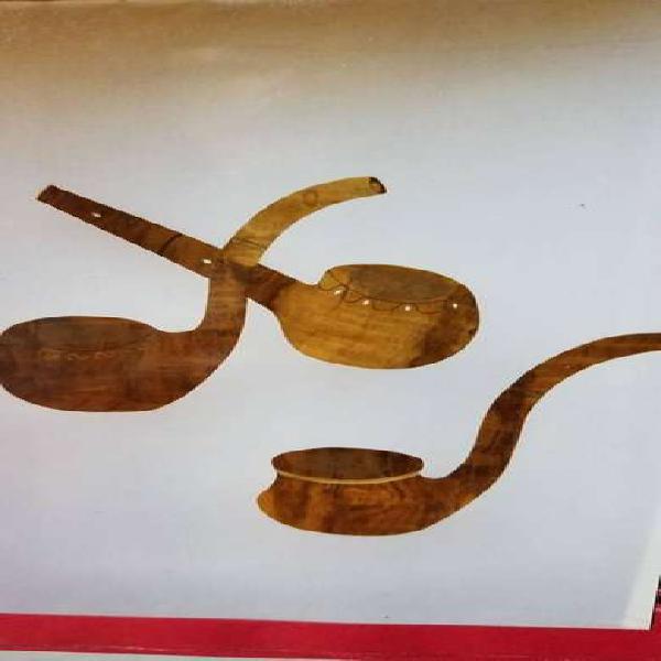 Pipas artesanal, en madera para decoracion