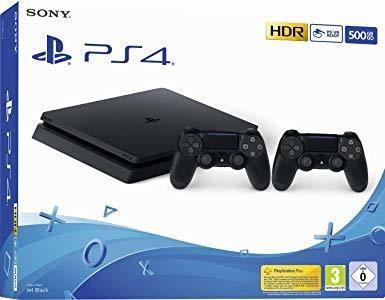 Playstation 4 slim 500gb + 2 joystick + 2 juegos ps4 glm