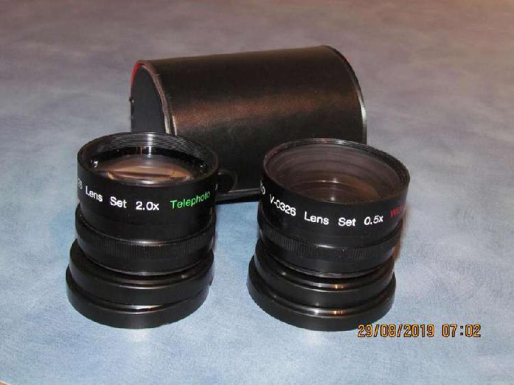 Set 2 lentes wide angle 0.50x telephoto 2.0x 55 mm nuevos