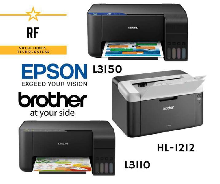 Tenemos impresoras con sistema continuo epson y laser