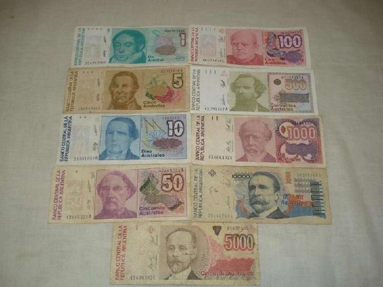 Billetes australes x9