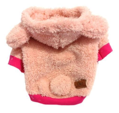 Abrigo buzo para perros osito color rosa o marrón