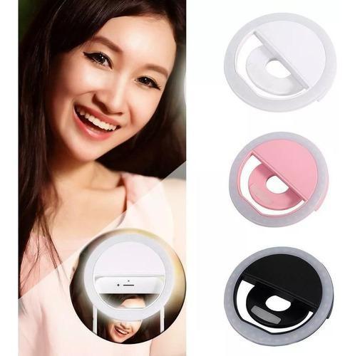 Aro de luz led para selfie flash celular batería usb lights