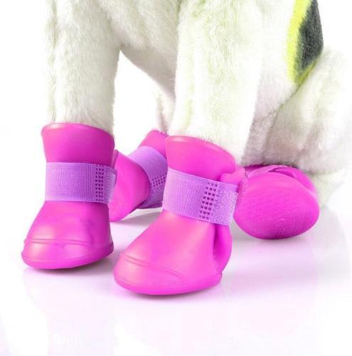 Botitas perro x4 (m) botas de lluvia silicona zapato