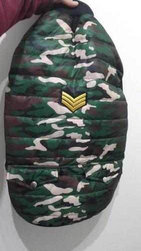 Campera impermeable chaleco inflable camuflado para perro t7