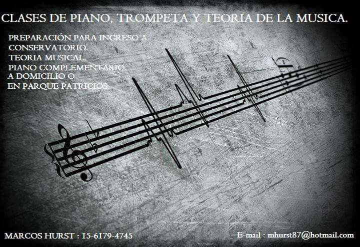 Clases de trompeta,piano ,guitarra y teoria musica