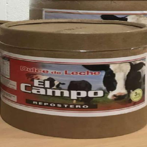 Dulce de leche repostero x3kg el campo