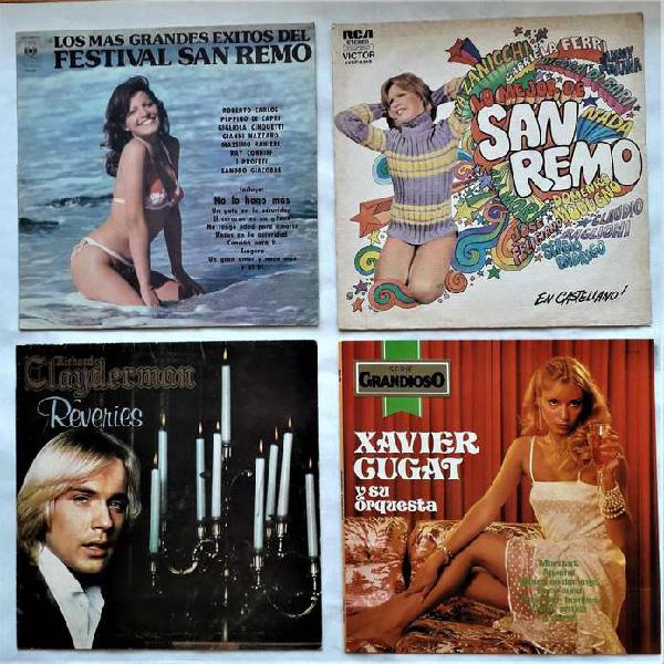 Lote 4 discos de vinilo fest. san remo richard clayderman