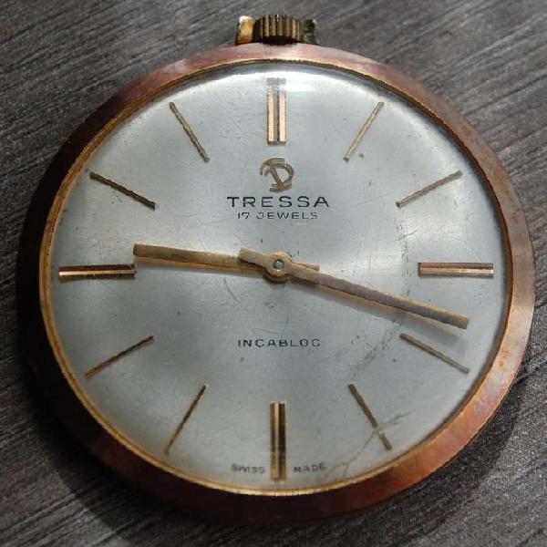 Reloj tressa antiguo de bolsillo.