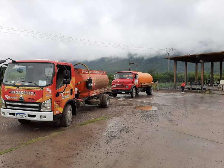 Saneamiento ambiental, desagotes, camion atmosferico