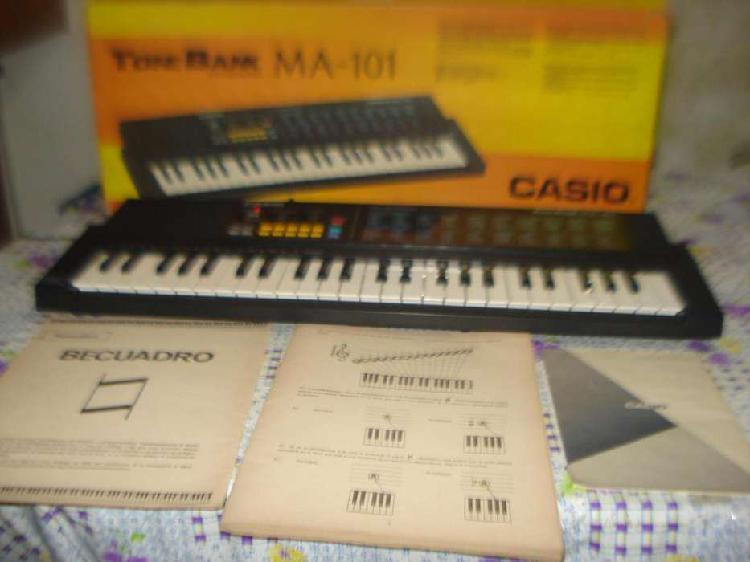 Teclado organo casio ma 101 impecable en caja, manuales etc