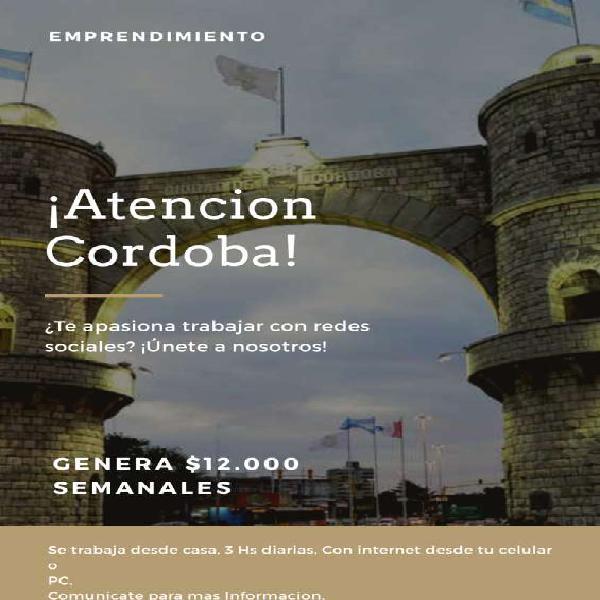 Trabaja desde casa!!! en Córdoba