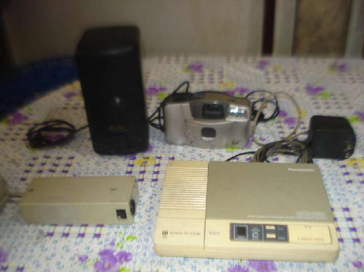 Venta de 4 electronicos parlante, contestador, camara contro
