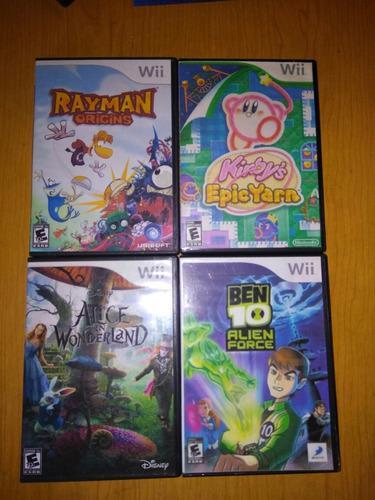 Colección de juegos wii infantiles