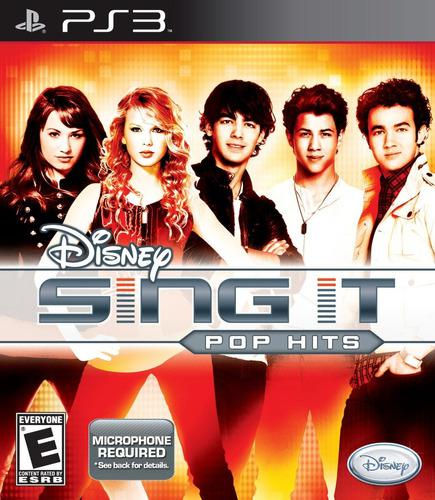 Disney sing it pop hits ps3 juego cd original fisico sellado