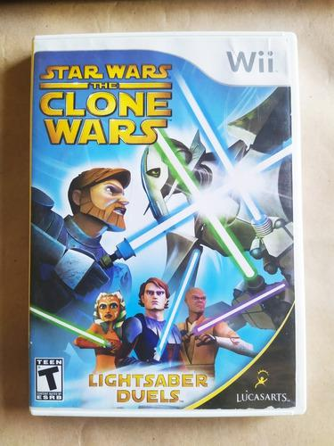 Juego star wars the clone wars: lightsaber duels wii y wii u