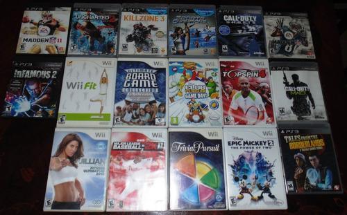 Lote juegos ps3 y wii nintendo play station 3