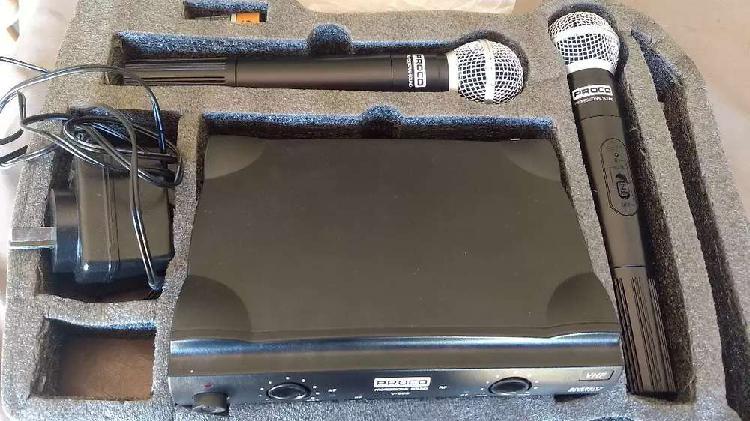 Micrófonos inalámbricos uhf procov509-dv2