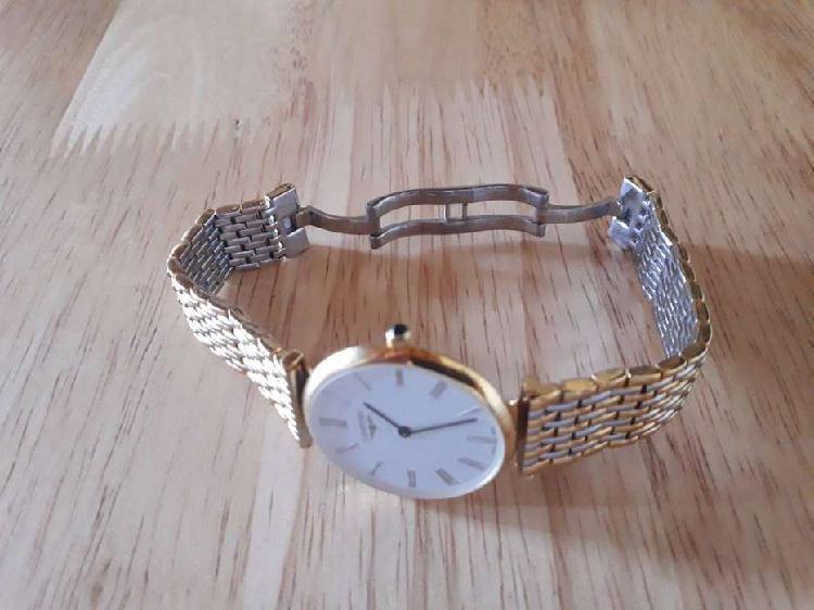 Reloj longines, modelo le grande classique, enchapado en