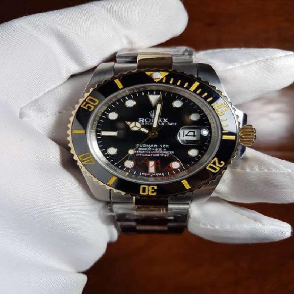Reloj rolex submariner date 40 mm combinado esfera negra