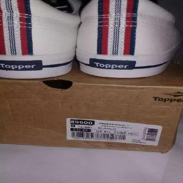 Zapatillas topper nuevas de lona