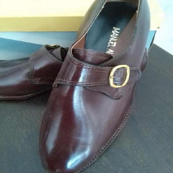 Zapatos de vestir nuevos cuero café hombre alonso nro 41