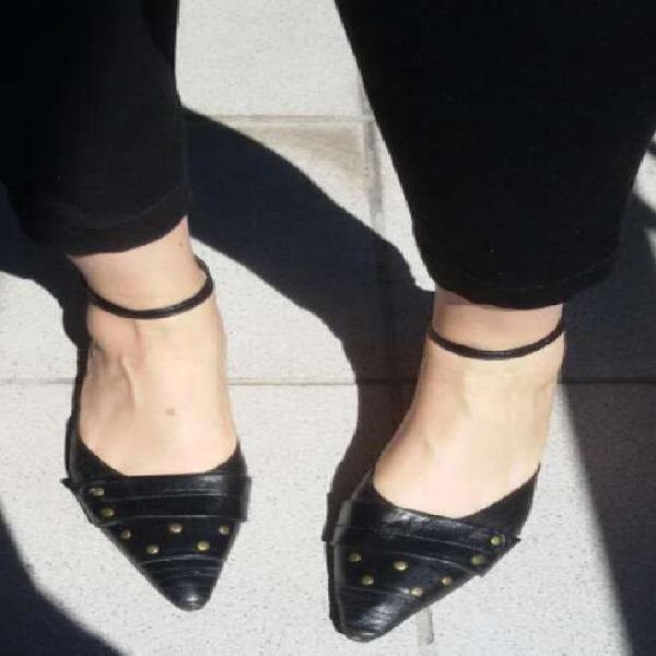 Zapatos mujer cuero negros talle 38
