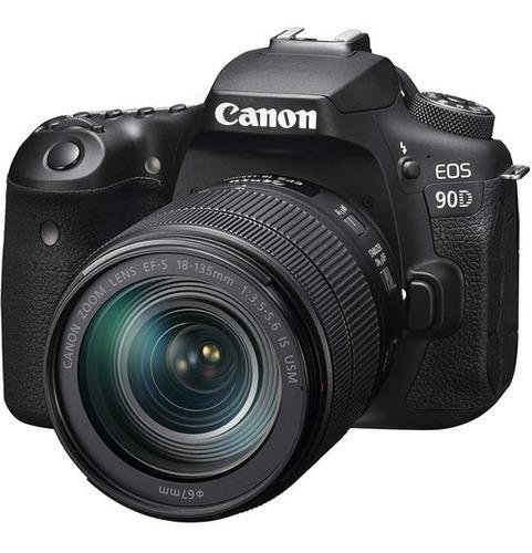 Camara Dslr Canon Eos 90d Dslr Lente 18-135mm Is Usm Fact A